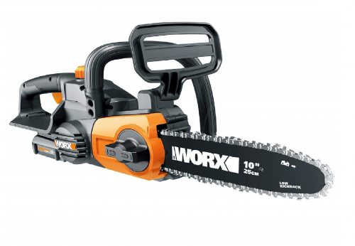6. Worx WG322 20V Cordless Chainsaw with Auto-Tension
