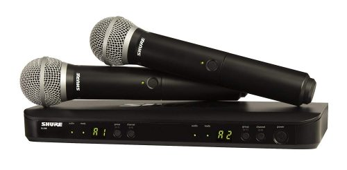 5. Shure BLX288/PG58 Dual Channel Handheld Wireless System