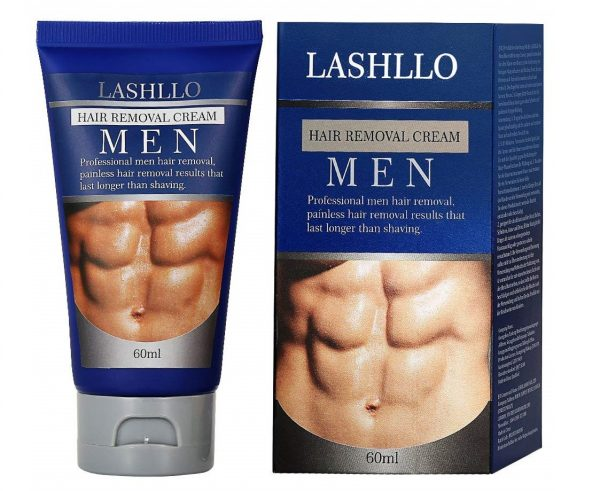 8. LASHLLO Depilatory, Natural Painless Permanent Thick Hair Removal Cream + Plastic Scraper