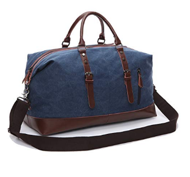 8. Fresion Canvas Overnight Weekender Luggage