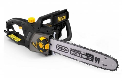 8. TECCPO Electric Chainsaw, 15A 16in Corded Professional Chainsaw