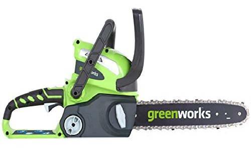9. Greenworks 12-Inch 40V Chainsaw, Battery & Charger Included 2000219