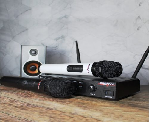 9. Phenyx Pro Dual VHF Wireless Microphone System