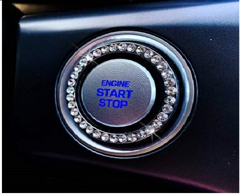 1.Bling-Car-Decor-Crystal-Rhinestone-Car-Bling-Ring-Emblem-Sticker-Bling-Car-Accessories-for-Auto-Start-Engine-Ignition-Button-Key-Knobs-Bling-for-Car