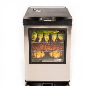 1.Masterbuilt-20077515-Front-Controller-Electric-Smoker-with-Window-and-RF-Controller-30-Inch