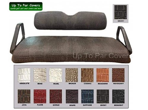 10.E-Z-Go-Club-Car-Yamaha-Tomberlin-Gator-Print-Custom-Golf-Cart-Seat-Cover-Set-Staple-On-Choose-Your-Color-From-Our-Color-Chart