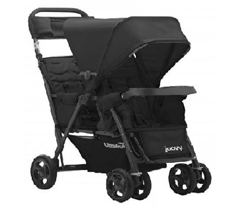 10.JOOVY-Caboose-Too-Ultralight-Graphite-Stand-On-Tandem-Stroller-Black