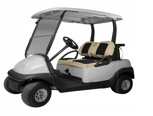 2.Classic-Accessories-Fairway-Golf-Cart-Neoprene-Paneled-Bench-Seat-Cover-Khaki