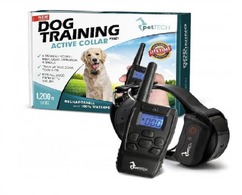 PetTech-PT0Z1-Premium-Dog-Training-Shock-Collar-Fully-Waterproof-1200ft-Range