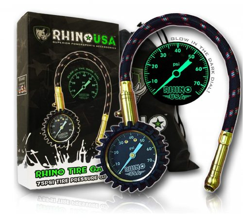 2Rhino-USA-Heavy-Duty-Tire-Pressure-Gauge-0-75-PSI-Certified-ANSI-B40.1-Accurate-Large-2-Easy-Read-Glow-Dial-Premium-Braided-Hose-Solid-Brass.