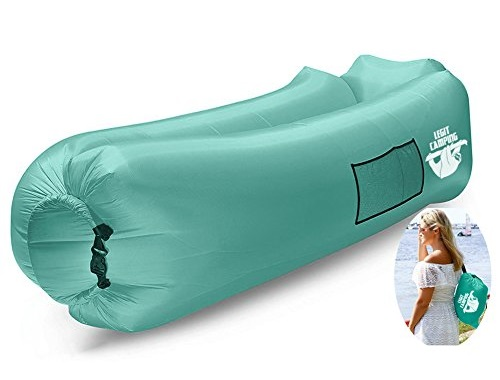 3. Legit Camping Inflatable Lounger with Carrying Bag & Pockets