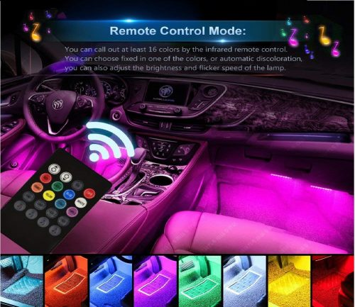 3.Car-LED-Strip-Light-Wsiiroon-4pcs-48-LED-Multicolor-Music-Car-Interior-Lights-Under-Dash-Lighting-Waterproof-Kit-with-Sound-Active-Function-and-Wireless