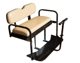 3.EZGO-TXT-Golf-Cart-Rear-Flip-Back-Seat-Kit-Factory-Tan