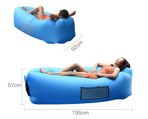 4. Anglink Outdoor Inflatable Lounger Couch, Thick Durable Comfortable, Air Sofa Blow Up Lounge Sofa Carrying Bag Travelling