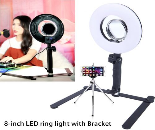 4.Selfie-Ring-Light-for-Phone-Video-Shooting-Makeup-YouTube-Vine-Portrait-Photography-with-Stand-Mirror-Table-Top-Dimmable-LED-Photo-8-inch-24W-5500K