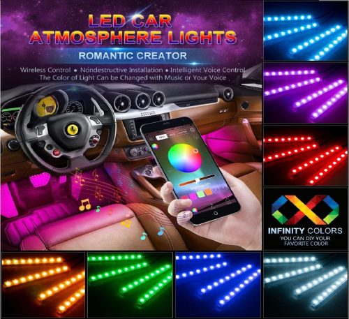 4.wsiiroon-Car-LED-Strip-Lights-4pcs-48-LED-Bluetooth-App-Controller-Interior-Lights-Multi-Color-Music-Car-Strip-Light-Under-Dash-Lighting-Kit-with-Sound