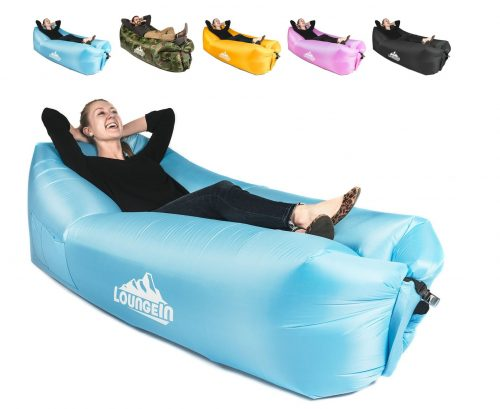 5. KyRush It Inflatable Lounger air Couch Chair Sofa Pouch