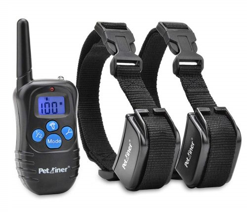 5.Petrainer-PET998DRB2-Dog-Shock-Collar-with-Remote-330yd-Dog-Training-Collar-with-Beep-Vibrate-Shock-Electronic-Collar-Rainproof-and-Rechargeable