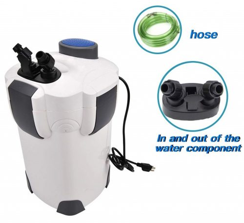 6. Polar Aurora 3-Stage External Aquarium Filter 265gph with Builtin Pump Kit Canister