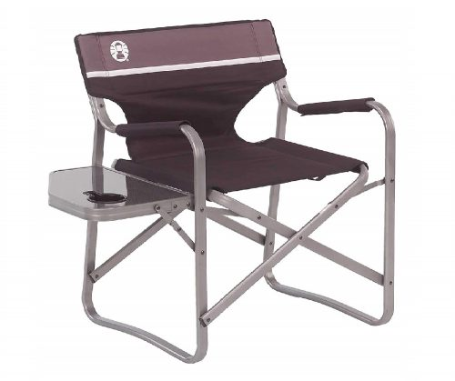 6. Coleman Portable Deck Chair with Side Table