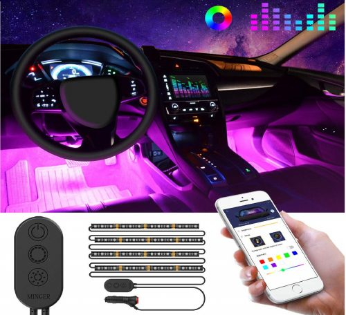 6.Unifilar-Car-LED-Strip-Light-MINGER-APP-Controller-Car-Interior-Lights-Waterproof-Multicolor-Music-Under-Dash-Lighting-Kits-for-iPhone-Android-Smart-Phone