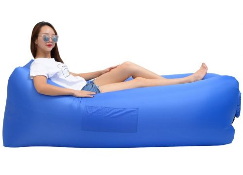 7. ZEEKER Inflatable Lounger Wind Breezy Pouch Couch Windbed Cloud Air Chair Sofa Bed Lazy Bag Been Sleeping Sand Beach Laybag Blow Up