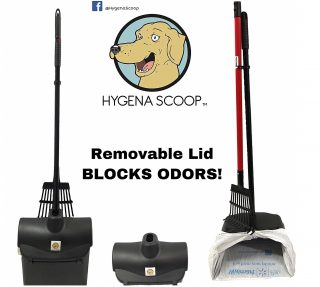 7.Hygena-Scoop-Push-N-Lock-Bag-Pooper-Scooper-with-Large-Odor-Blocking-Swivel-Bin-Metal-Poop-Rake-Set-Clean-Waste-Removal