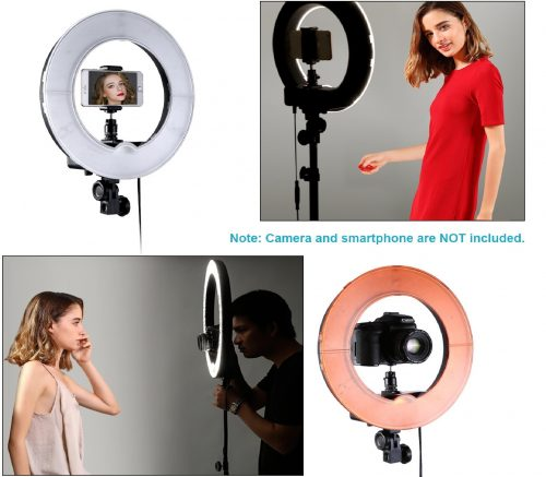 7.Neewer-RL-12-LED-Ring-Light-14-outer12-on-Center-with-Light-Stand-Soft-Tube-Filter-Carrying-Bag-for-Makeup-YouTube-CameraPhone-Video-Shooting