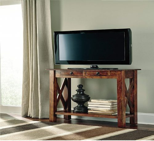 8.Ashley-Furniture-Signature-Design-Abbonto-Sofa-Table-with-Console-2-Drawers-Traditional-Warm-Brown