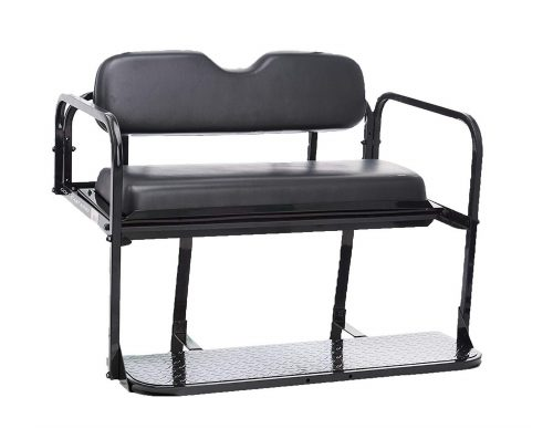 8.EZGO-TXT-Golf-Cart-Rear-Flip-Folding-Back-Seat-Kit-1995-And-Up-All-Factory-Colors-Black-Cushions