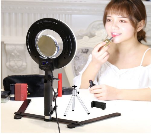 8.Table-Top-Photo-LED-Selfie-Ring-Light-with-Desktop-Stand-for-Makeup-8-inch-Dimmable-24W-5500K-O-Circular-Beauty-Lamp3-MirrorMini-TripodPhone-Clampfor...-e1550589092499