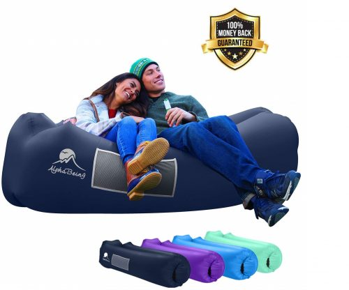 9. AlphaBeing Inflatable Lounger - Best Air Lounger for Travelling, Camping, Hiking