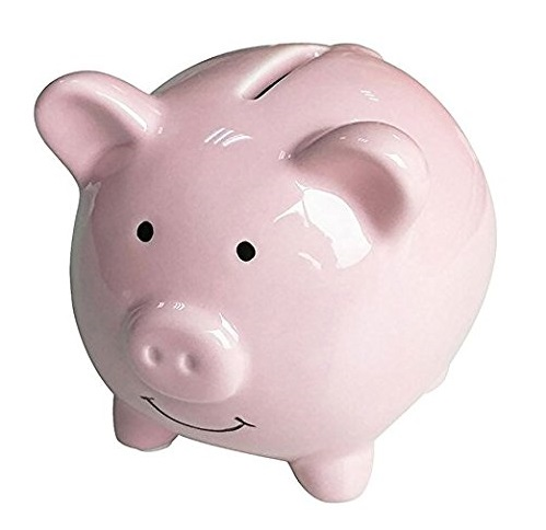 9. Geelyda Pink Piggy Bank Small Piggy Banks for Girls Boys Kids Piggy Banks A New Piggy Banks for Gift