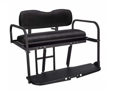 9.Gusto-EZGO-TXT-Golf-Cart-Flip-Folding-Rear-Back-Seat-Kit-Black