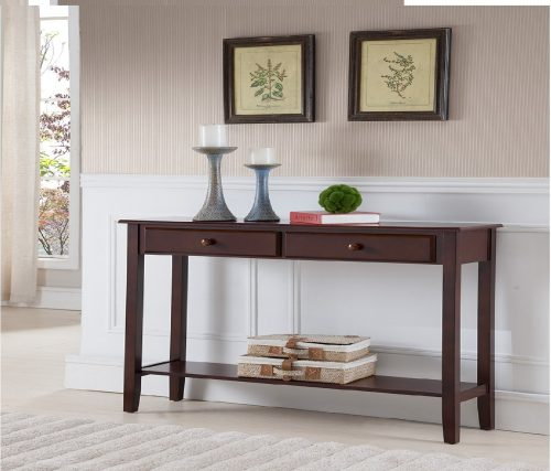 9.Kings-Brand-Furniture-Console-Entryway-Table-with-2-Drawers-Walnut-Finish-Wood