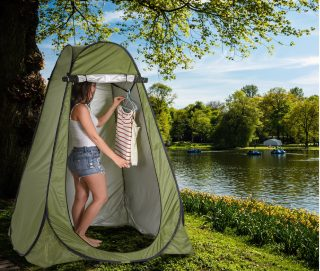 1.Pop-Up-Privacy-Tent-–-Instant-Portable-Outdoor-Shower-Tent-Camp-Toilet-Changing-Room-Rain-Shelter-w-Window-–-for-Camping-Beach-–-Easy-Set-Up