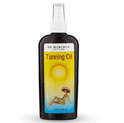 10. Dr. Mercola Natural Tanning Oil - Promotes A Deep Golden Tan - Proprietary Blend Of 9 Organic Ingredients - Hypoallergenic - Premium Skin Care Product