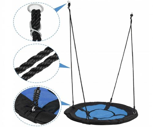 10.SUPER-DEAL-40-Waterproof-Saucer-Tree-Swing-Set-360-Rotate°-Attaches-to-Trees-or-Existing-Swing-Sets-Adjustable-Hanging-Ropes-for-Kids-Adults-and