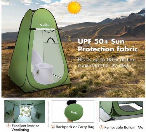 11.Campla-Shower-Tent-Pop-up-Camping-Changing-Tent-Portable-Waterproof-Outdoor-Dressing-Bathroom-Toilet-Tent-Privacy-Shelter-Tent-with-Carrying-Bag