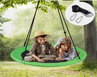 12.WONDERVIEW-Tree-Swing-Outdoor-Swing-with-Hanging-Strap-Kit-40-Inch-Diameter-600lb-Weight-Capacity-Great-for-Playground-Swing-Backyard-and-Playroom