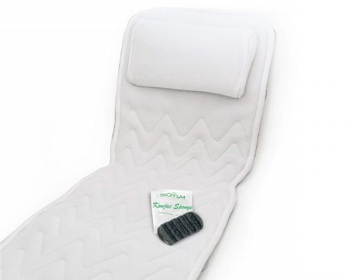 14.IndulgeMe-Full-Body-Bath-Pillow-Mat-–-Non-Slip-Plus-Konjac-Bath-Sponge-Luxury-Cushion-Supports-Your-Head-Neck-Shoulder-Back-and-Tailbone-Anti-Bacterial.