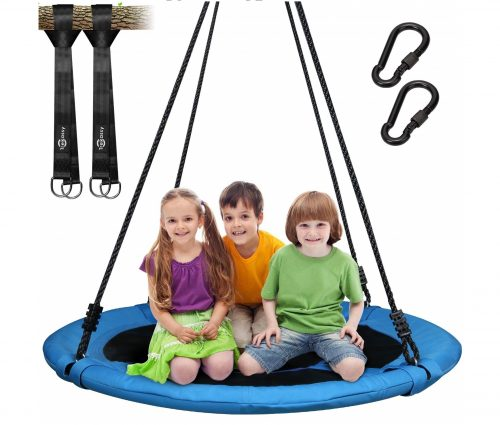 15.Trekassy-700lb-Saucer-Tree-Swing-for-Kids-Adults-40-Inch-900D-Oxford-Waterproof-Frame-with-2-Hanging-Straps