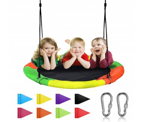 5.Springcoo-Tree-Swing-40-Diameter-Very-Large-Swing-for-Multiple-Kids-PlayHeight-Adjustable