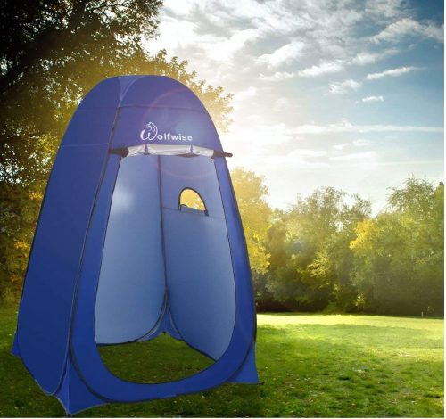 5.WolfWise-Dressing-Tent-Shower-Privacy-Portable-Camping-Beach-Toilet-Pop-Up-Tents-Changing-Room-Outdoor-Backpack-Shelter-Blue