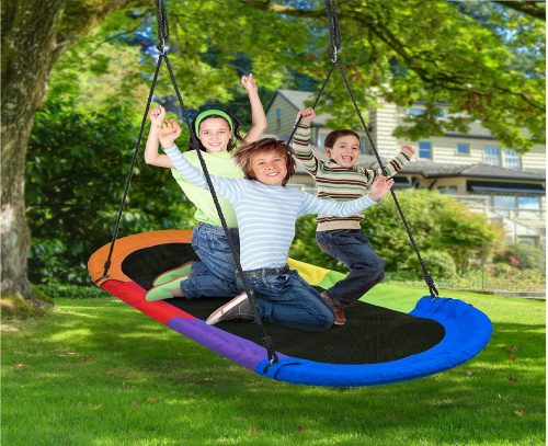 6.Sorbus-Saucer-Swing-Surf-–-Kids-Indoor-Outdoor-Giant-Oval-Platform-Swing-Mat-–-Great-for-Tree-Swing-Set-Backyard-Playground-Playroom-–-Accessories