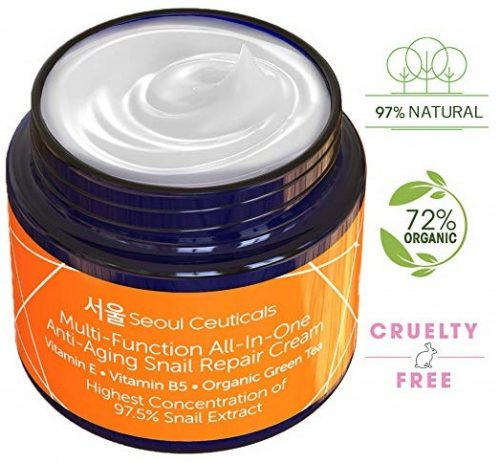 7. Korean Skin Care Snail Repair Cream Moisturizer