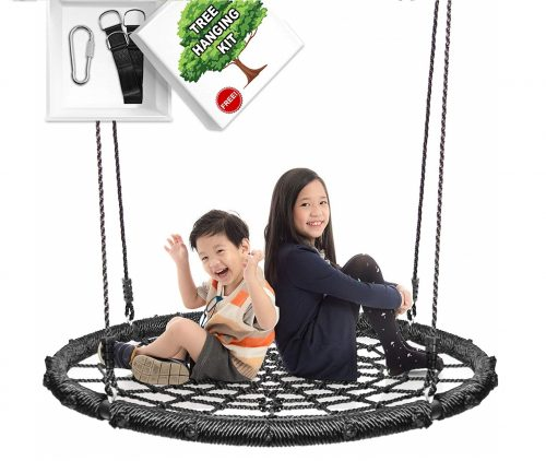 7.KHOMO-GEAR-Extra-Large-40-Inches-Diameter-Swing-Spin-Set-Complete-Set-Includes-Tree-Swing-Hanging-Kit