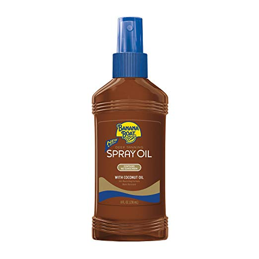 8. Banana Boat Deep Tanning Oil Spray with Carrot and Banana Extracts - 8 Ounce (Pack of 3)