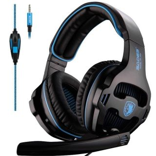 8. SADES SA810 Gaming Headset Headphone 3.5mm Over-Ear with Mic Volume Control for PC