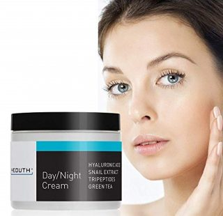 8. YEOUTH Day Night Moisturizer for Face with Snail Extract, Hyaluronic Acid, Green Tea, and Peptide